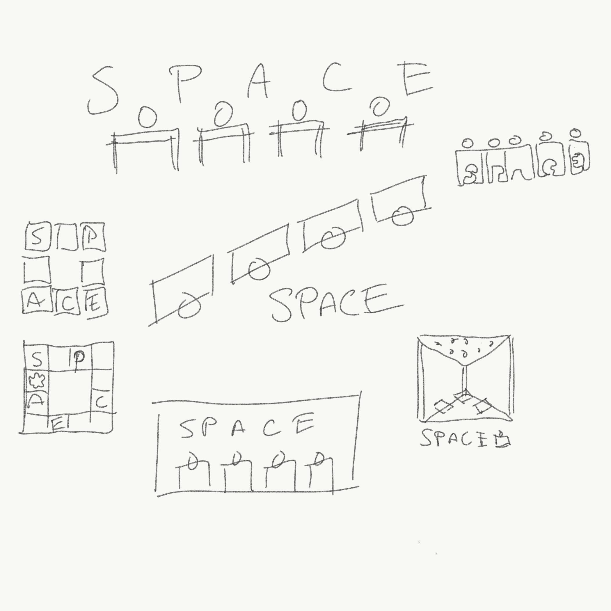 space logo doodles